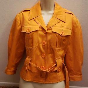 INC Intl Concepts Small Orange Button Coat Jacket